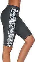 Ekouaer Women's Board Short with Built-in LinerAbove Knee Length(Grey L)