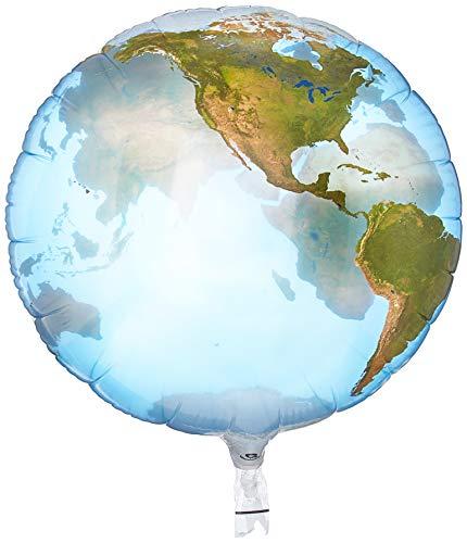 Folat 16871Q Ballon en aluminium Planète Terre Multicolore 56 cm
