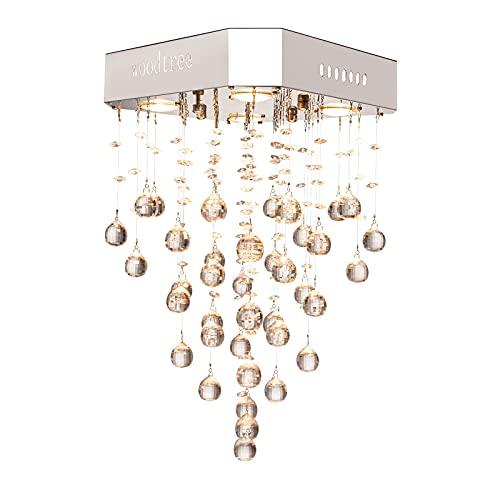 lampadario soggiorno pendente Cristallo moderno lampadario goccia di pioggia di illuminazione a filo for montaggio a soffitto LED della lampada del dispositivo di pendente della luce for sala da bagno camera da letto Soggiorno 4 G