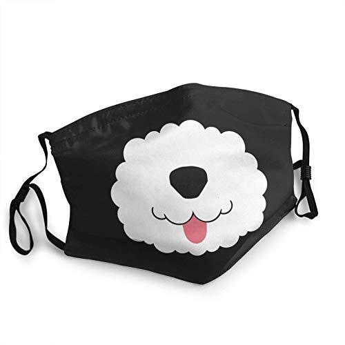HleHjum Mascarillas unisex con fondo para mascotas con huellas de perro y hueso, máscara antipolvo unisex