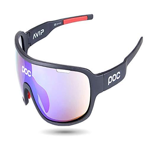 HUIHUAN Sonnenbrille Ultraleichte polarisierte Sonnenbrille für Männer und Frauen Outdoor-Sportbrillen 100% UV-Schutz,Black