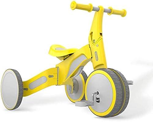 HYYQG Baby Laufrad einkind VerStückte Tretauto fürt FüR 2-3 Jahre Alte Kinder Gehhilfe Alter 18-36 Monate Breites Rad Langlebig Dreirad S ling Erster Geburtstag Geschenk Drinnen Draußen