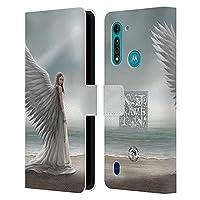 Head Case Designs オフィシャル ライセンス商品 カスタムケース パーソナライズ ユベントスAnne Stokes スピリット・ガイド アート Motorola Moto G8 Power Lite 専用レザーブックウォレット カバーケース