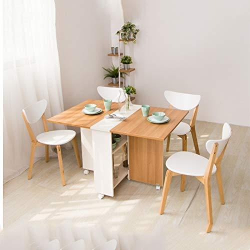 Huoqilin tafel, inklapbaar, avondeten, tafelmaat, telescopische beweging, 1,2 m, voor rechthoekige tafels Een