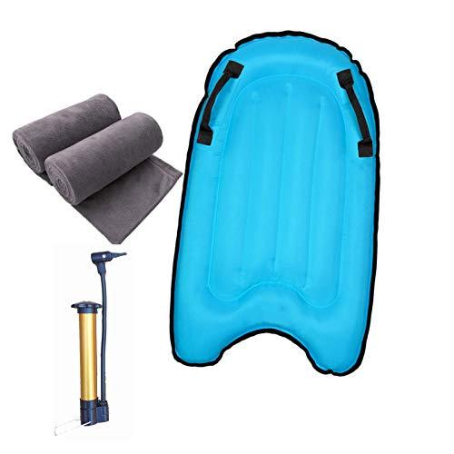 Backboards Tablas Paddle Surf Hinchable,Duradero Tabla De Surf De Remo,Equipo Auxiliar de Natación al Aire Libre,Adolescentes Niños Principiante de Verano,Blue