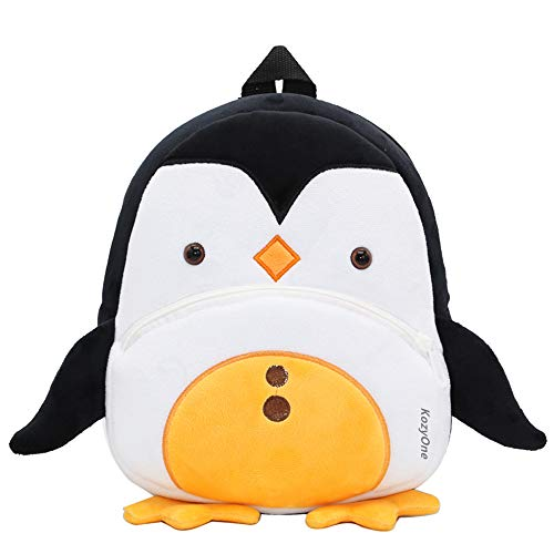 Cartoon Backpack School Bag, for Toddler Boys Girls, 2-5 Years Old, (Penguin)