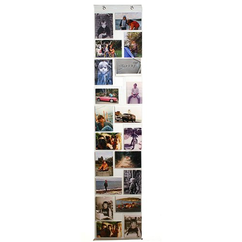 transparenter Fotovorhang mit 20 Taschen im Format 10 x 15 cm,passend für Postkarten und Fotos,sowohl Hoch- als auch Querformat
