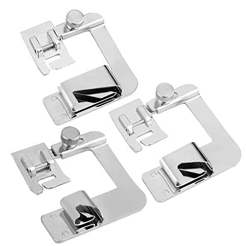 3dimensioni universale orlo arrotolato piedini piedino per macchina da cucire hemmer Foot set (4/20,3cm, 6/20,3cm, 8/20,3cm) Fit for most macchine da cucire