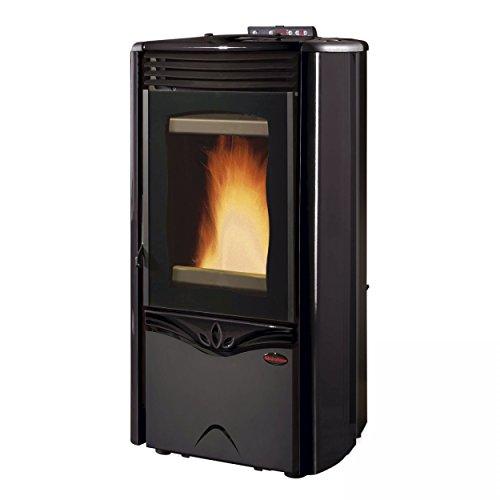 Extra flame watervoerende pelletkachel 12 kW extraflame Duchessa Idro Steel zwart