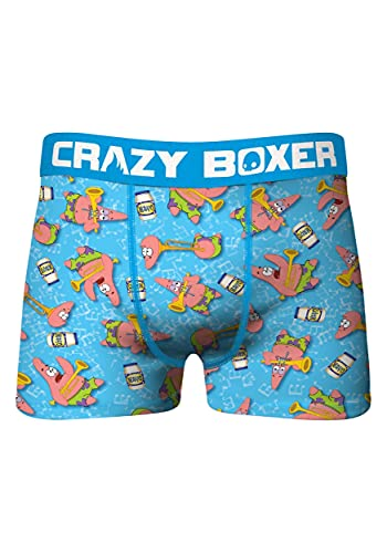 CRAZYBOXER Crazy Boxers Spongebob Mayo Boxer Briefs for Men Large