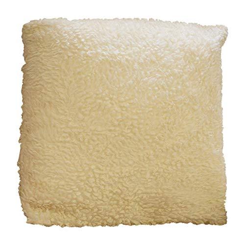 UK Care Direct Luxe Doux Crème Imitation Polaire Housse de Coussin avec Volume Intérieur en Fibre Creuse 45,7 x 45,7 cm/45 cm x 45 cm