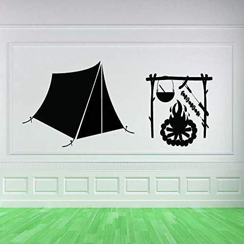 Geschenk camping muster zelt hütte vinyl wandbild zimmer aufkleber spezielle decoration45X78CM
