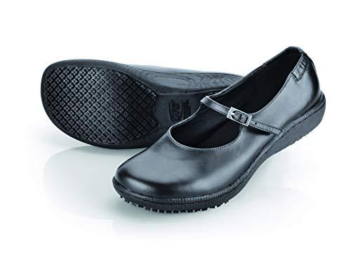 Shoes for Crews Unisex Erwachsene größe MARY JANE II Lederschuhe für Damen, Schwarz, 38 EU
