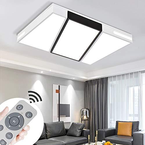 COOSNUG Lámpara de techo LED, 72 W, regulable, moderna, para dormitorio, cocina, pasillo, salón