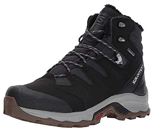 Salomon Men's Quest Winter GTX Snow Boots, PHANTOM/Black/Vapor Blue, 11