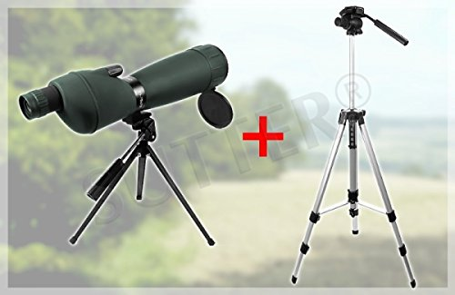 SUTTER Spektiv 25-75x75 mit Tasche, Fernrohr für Vogelbeobachtung, Sportschützen, Jagd - Ohne Premium-Stativ