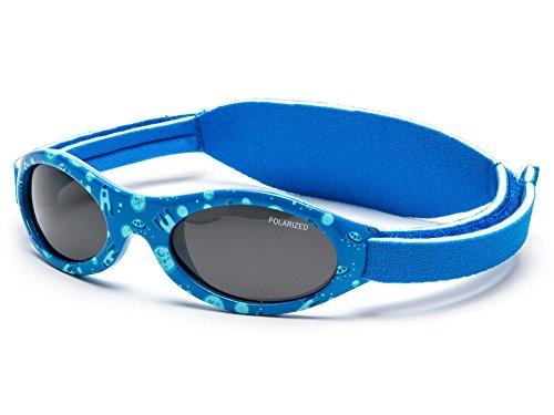 Kiddus POLARISIERTE PREMIUM Baby Sonnenbrille. Jungen und Mädchen. Von 0 Monaten bis 2 Jahren. UV400 100% UV-Schutz. Mit weichem SILICONE Nasensteg und verstellbarem weichem NEOPRENE-Band