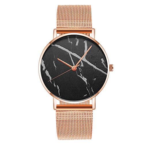 Relojes Para Mujer Relojes de mujer simples de la moda de la moda de la correa de la malla de la rosa del oro reloj de cuarzo elegante vestido de reloj de reloj Relojes Decorativos Casuales Para Niñas