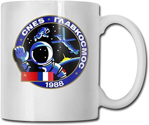 Tasse à café Soyouz TM cadeau pour enfants femmes hommes garçons filles tasse à thé en céramique en céramique blanche tasse 11oz