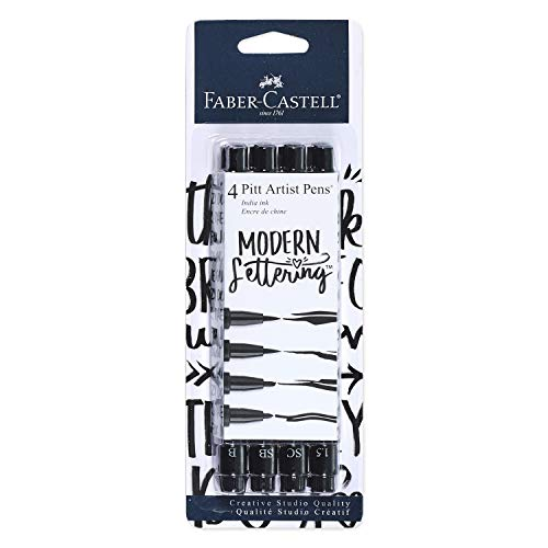 Rotulador Lettering Negro  marca Faber-Castell