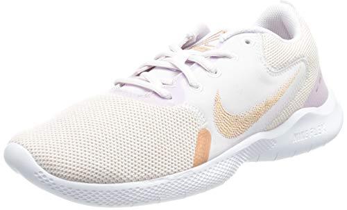 Nike Wmns Flex Experience RN 10, Zapatillas para Correr Mujer, Champagne MTLC Red Bronze LT Violet White, 39 EU