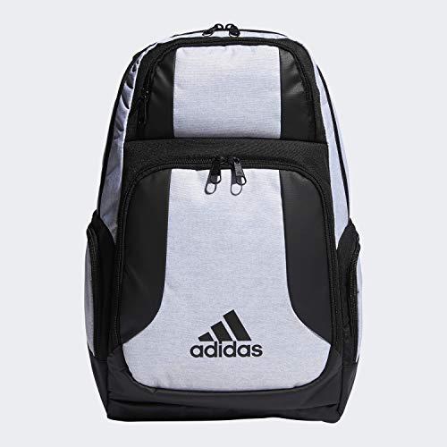 adidas Kraft-Rucksack, Unisex-Erwachsene, Rucksack, Strength Backpack, Weißes Jersey, Schwarz, Einheitsgröße