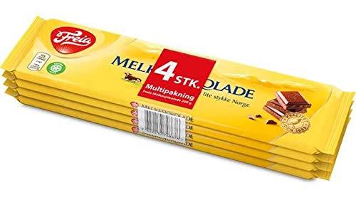 Norwegische Schokoladepaket 4er Pack / 1 x Norge Sticker
