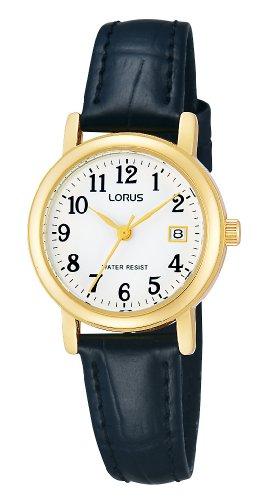 Lorus RH764AX9 - Orologio da polso donna, pelle, colore: nero