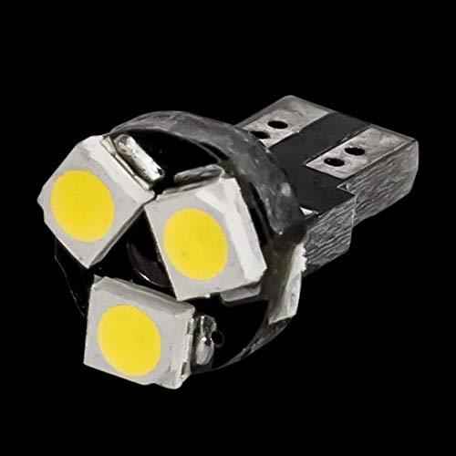HXFANG T5 W3W W1.2W 509T 74 79 86 Auto Lamps 3 del Panel de LED del Coche del Bulbo Calentamiento Indicador de cuña de luz Luces de los Instrumentos de Canbus No Error (Emitting Color : Blue)