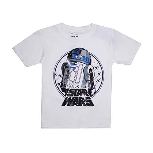 Star Wars R2 Camiseta, Blanco (White White), 11-12 años para Niños