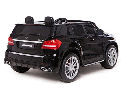 RC Auto kaufen Kinderauto Bild 2: ES-TOYS Kinderfahrzeug - Elektro Auto Mercedes GLS63 AMG - lizenziert - 2X 12V7AH Akku,4 Motoren- 2,4Ghz Fernsteuerung, MP3 Ledersitz (Schwarz)*