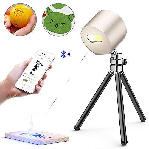 Vogvigo Mini Laser Graveermachine, Intelligente Handheld Laser Printer Graveermachine, voor DIY Logo Design, Ambachtelijke Wetenschap, Hout Papier Leer (Goud)