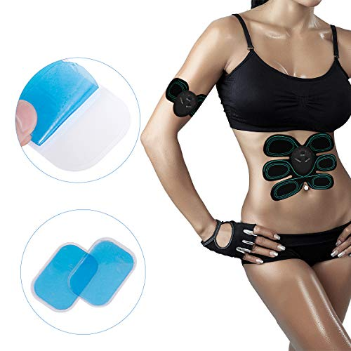 C100AE 60PCS EMS Gel Pads, EMS ABS Replacement Pads,Electrodes Gel Replacement Pads, EMS Trainer Gel Pads for Abs Toner, ABS Stimulator, Abdominal Muscle Trainer Accessories