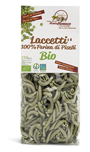 4x250g Pasta 100% Farina di PISELLI BIO - LACCETTI