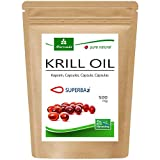 MoriVeda® - Cápsulas de aceite de Krill Superba: aceite de krill premium con Omega 3,6,9, astaxantina esterificada, fosfolípidos, colina, vitamina E (1x60 cápsulas)