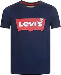 Levi's Camiseta de Manga Corta Azul Marino para Niños - NN10117