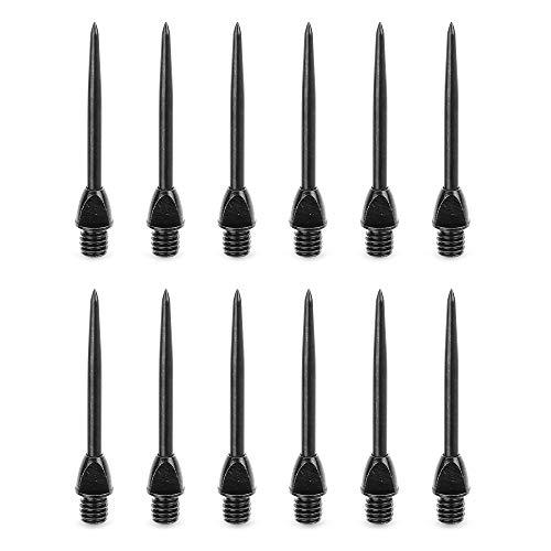 CyeeLife 12/24 Stück 2BA Steel dartpfeile Spitzen Metall, Dart Tip Konverter Tool