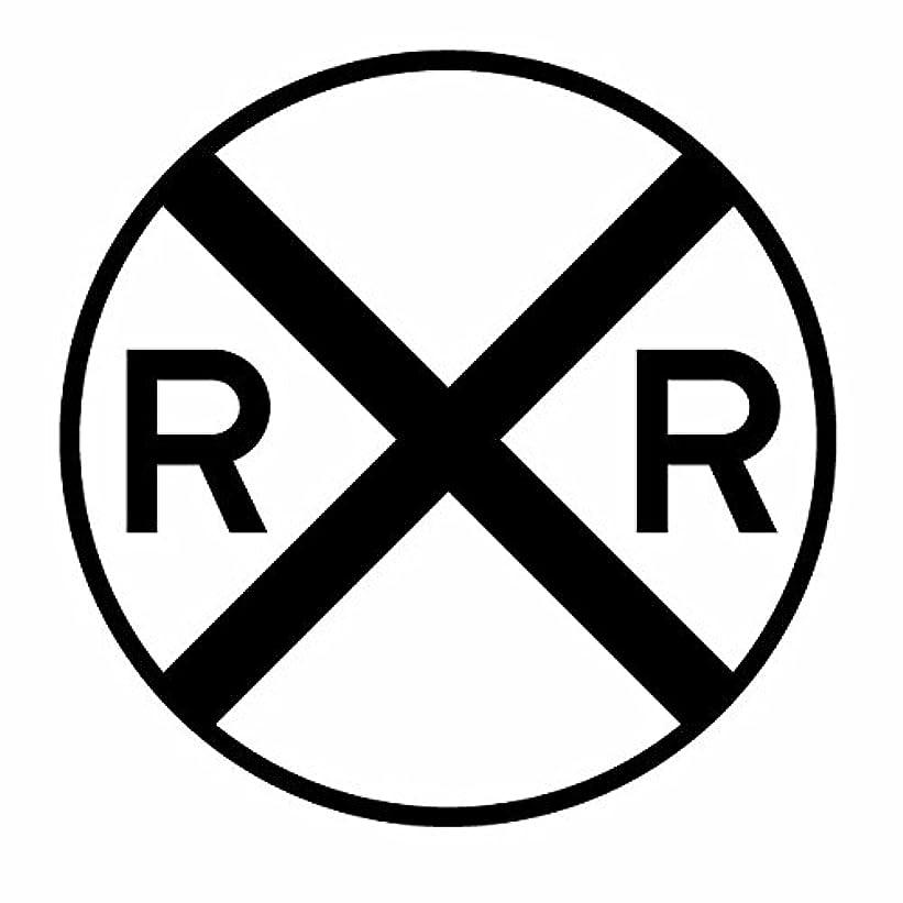 時々テニスラブ【レイルロード道路標識(ステッカー) カッティングステッカー 3枚組 幅約12cm×高約12cm】カラー:黒(ブラック)、ハンドメイド アメリカ鉄道道路標識、線路に注意