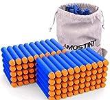 AMOSTING Dardos para Nerf 100 Piezas 7,2 cm Espuma Suave Balas Espuma Niño para N-Strike Elite Blasters Pfeile Dart Bullets con Bolsa de Almacenamiento Pistola de Juguete para Niños - Azul