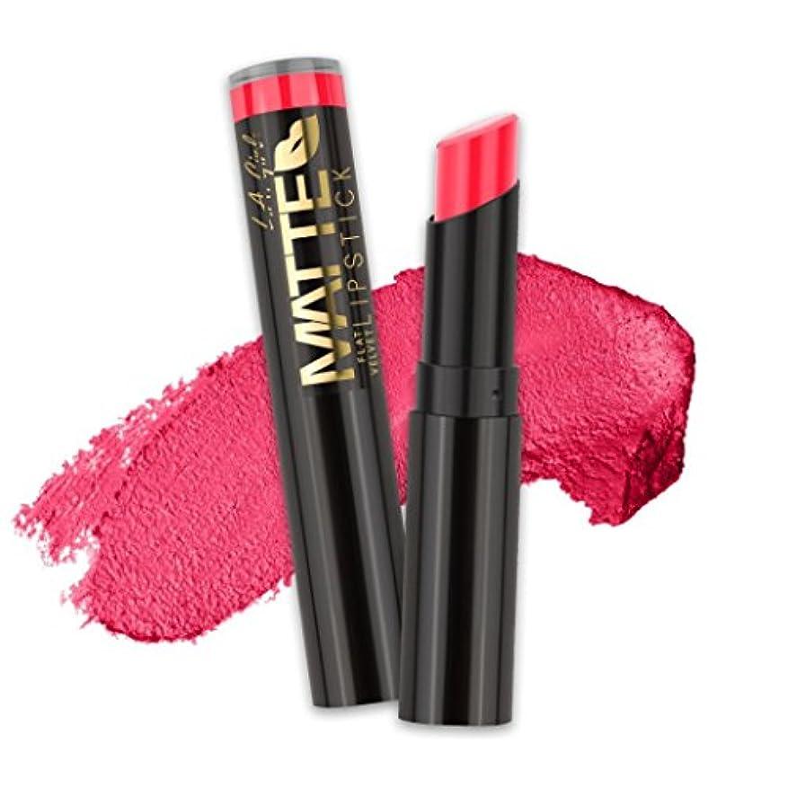 二度消費するしわ(6 Pack) L.A. GIRL Matte Flat Velvet Lipstick - Hot Stuff (並行輸入品)