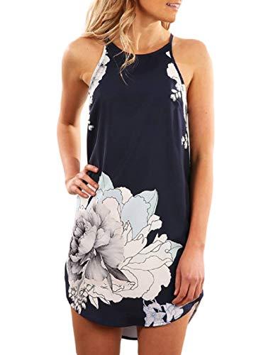 SEBOWEL dames lichte zomerjurk strandjurk sexy casual strand jurken