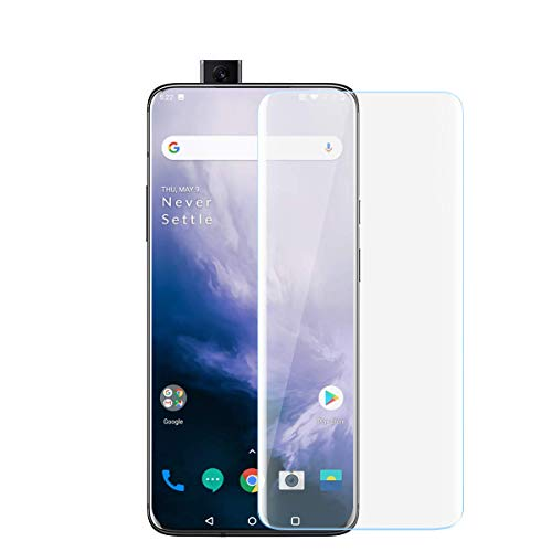 CASE U Advanced Border-less Full Edge to Edge UV Screen Protector Tempered Glass with Installation Kit for OnePlus 7 Pro/OnePlus 7T Pro (Crystal Clear)