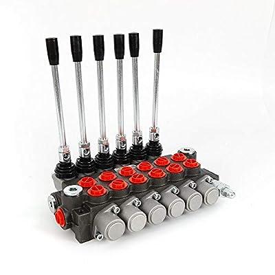 LianDu 6 Spool Hydraulic Directional Control Valve Monoblock Valve 11GPM 3600PSI Double Acting Hydraulic Control Valve (US Stock) by LianDu
