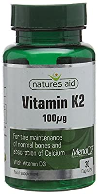 Natures Aid Vitamin K2 Capsules - Pack of 30 by Natures Aid