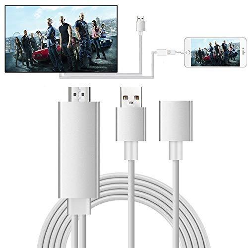 MHL zu HDMI Kabel Ozvavzk 3 in 1 USB Typ C/Micro USB/Blitz USB auf HDMI Cabel Telefon to HDMI Adapter Kompatibel mit Phone Pad Android Smartphone 1080P Digitaler AV Adapter zu TV Monitor Projektor -2M