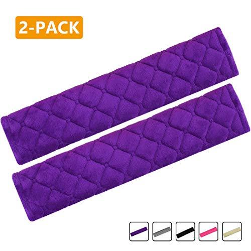MIRKOO Car Seat Belt Cover Pad, 2-Pack Soft Car Safety Seat Belt Strap Shoulder...