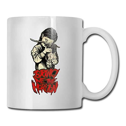 N\A Bring Me The Horizon Taza de café Hip-Hop/Taza de té/Taza Taza Taza de café Divertida Regalos Divertidos para Hombres y Mujeres