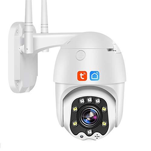 Tuya Smart Life Cámara IP WIFI, 5X Zoom Outdoor IP66 Cámara de seguridad PTZ de seguimiento automático a prueba de agua, Vigilancia CCTV de visión nocturna 1080P