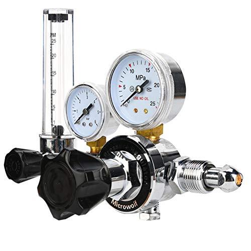Regulador de gas argón, Reductor de presión Mig Tig de soldadura, Regulador de presión de gas Regulador de argón para laboratorio comercial industrial(WX-983-5/8)