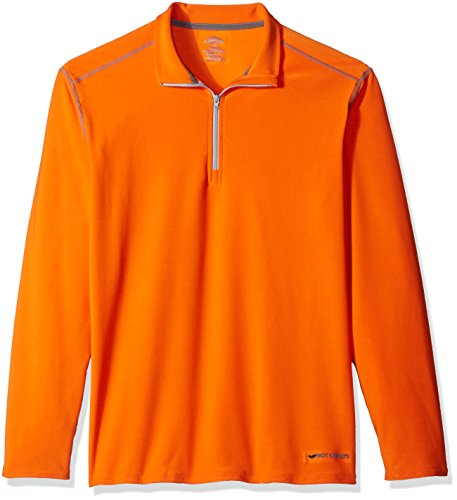 Hot Chillys pour Homme Chamois Solide Zip-t Top, Homme, Orange